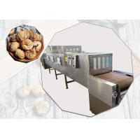 China Silvery White Color Stainless Steel Conveyor Belt Material Microwave Sterilization Machine For Figs on sale