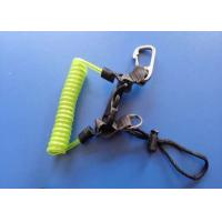 Wholesale 4.0mm Diving Steel Coil Safety Tool Lanyards With Metal Clips Belt from china suppliers
