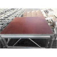 Wholesale Anti - Rust Lightweight Aluminum Folding Stage , Small Mobile Stage Platform from china suppliers