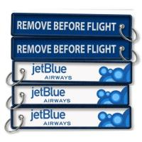 Wholesale JetBlue Airlines Remove Before Flight Keychain from china suppliers