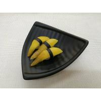 Wholesale Imitation Porcelain Dinnerware Sets Black Color Triangle-Shape Length 20cm Weight 344g from china suppliers