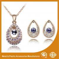 Wholesale Ladies Eye Shape Zinc Alloy Jewelry Sets Earrings And Necklace Set from china suppliers