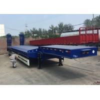 Quality Low Bed Semi Truck Trailer 3 Axles 80T Loading Construction Machine / Heavy Equipment for sale