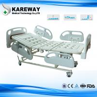 Quality 4 Inches Castors Hospital Patient Bed Three Functions With ABS Plastic Mattress for sale