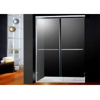 Wholesale America Style Double Sliding Shower Doors Glass With 2 Bright Handles from china suppliers