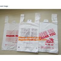 Wholesale Custom Print Hdpe Plastic T Shirt Bags with Gusset, hdpe bags, ldpe bags, pp bags, sacks from china suppliers