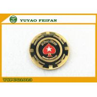 Wholesale Red Heart Star Metal Poker Chips Engrave Custom Logo Casion Using from china suppliers