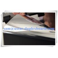 Wholesale both sides Polyester silver paper board,two sides mirror treatment cardboard from china suppliers