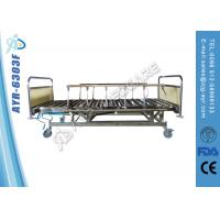 Wholesale Collapsible Five Functions Stainless Steel Hospital Bed With Side Rails / head board from china suppliers