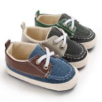 Buy cheap New fashion Canvas shoes Anti-slip prewalker infant crib boy baby shoes from wholesalers