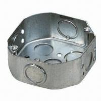 Buy cheap Metal Junction Box, Made of Steel Galvanized, with 1 Gang 20/25mm, OEM and ODM from wholesalers