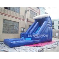 Wholesale Blue Outdoor inflatable water slide with pool , Giant Inflatable Water Toys from china suppliers