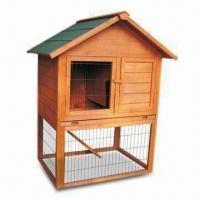 Wholesale Rabbit Hutch, Made of Chinese Fir/Wood with Plasticized Floor from china suppliers