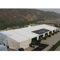 Wholesale White Strong Outdoor Warehouse Tents , Temporary Storage Shelters With Fabric Covered from china suppliers