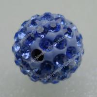 Wholesale Light Sapphire Clay Shamballa Pave Beads from china suppliers