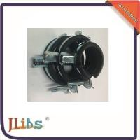 Black And Zinc / Chrome Plated Cast Iron Galvanized Pipe Clamps 8mm - 60mm