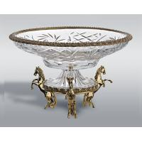 Wholesale Crystal Fruit Bowl/Fruit Tray/Fruit plate With Brass Base from china suppliers