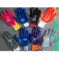 Wholesale 13G15G knitted coated black nitrile safety glove/working safety gloves from china suppliers