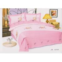 Wholesale Personalized Complete Home Cotton Pink Floral Decorative Embroidered Queen Bed Sheet Sets from china suppliers