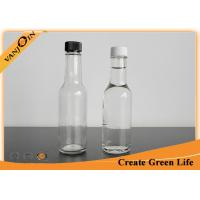 Wholesale Clear 5oz Woozy Glass Sauce Bottles With Orifice Reducer and Plastic Screw Cap from china suppliers