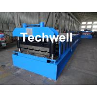 Wholesale Roof Wall Panel Cold Roll Forming Machine / Roof Wall Cladding Roll Forming Machine With PLC Control System from china suppliers