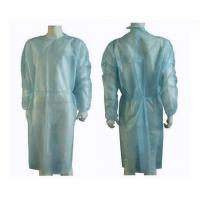 Wholesale Blue Knitting Cuff Disposable Isolation Gowns Hospital Clothing PP SMS Material from china suppliers