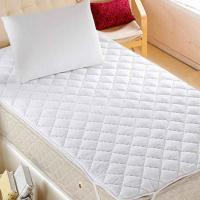 Wholesale King Size White Quilted Waterproof Mattress Protector TPU Laminated from china suppliers