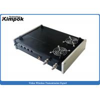 Wholesale Strong 10 Watt 1200Mhz Wireless Video Transmitter 4 Channels CCTV AV Sender with 2 Fans from china suppliers
