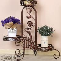Quality Plant Holders flower basket metal basket flower rack flower shelf planters garden decoration Rattan basket for sale