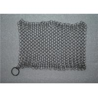 Wholesale Kitchen Cleaning Chainmail Scrubber For Cast Iron Cookware , Stainless Steel 316 from china suppliers