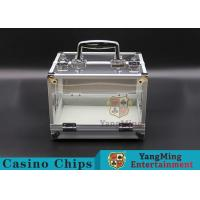 Wholesale 600PCS Double Open Handle Texas Chip Box / Aluminum Alloy Frame High Transparency Chess Room from china suppliers