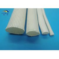 Quality High Temperature Heat Resistant Uncoated Silicone Fiberglass Sleeving for sale