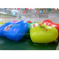 Quality Heart Shaped Inflatable Advertising Balloons / 2.5m PVC Air Balloon Advertising for sale
