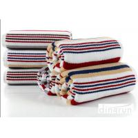 Wholesale Jacquard Striped Terry Customized Cotton Bath Towels 60*120cm AZO Free from china suppliers