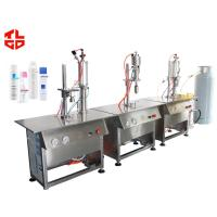 Wholesale Aerosol Body Spray Filling Machine Semi Automatic For Plastic Bottle / Glass Bottle from china suppliers