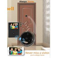 Wholesale Aluminium Alloy WiFi Video Doorbell With Peephole , 120 Degree Wide Angle from china suppliers