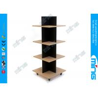 Wholesale Simple T Shirt Wooden Store Displays Tower with 4 Tiers for Cloth Shops from china suppliers