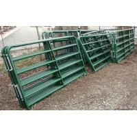 Wholesale 4ft x 9ft Cattle Horse yard panels for Unite States Farm 40mm tubing cattle fence panels from china suppliers