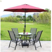 Wholesale Summer Garden Furniture Table and Chairs Set with Parasol Sun Shade from china suppliers