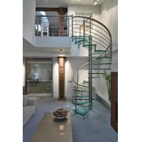 Wholesale Easy Installation Modern Style Indoor Glass Spiral Stairs Price from china suppliers