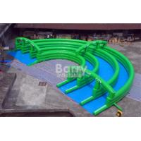 Wholesale Crazy Fun Green Inflatable City Slide Big Inflatable Slides For Street / Road from china suppliers