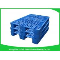 Wholesale Blue Recyclable Transport industrial Plastic Pallets 4-Way Entry Type from china suppliers