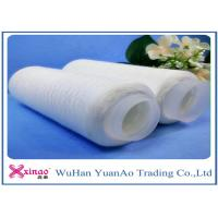 Wholesale 100% Virgin Grade Raw Weaving Spun Polyester Yarn With Plastic Tube Eco-friendly from china suppliers