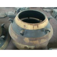 Buy cheap cone crusher spare parts high manganese cone liner bowl liner mantle from wholesalers