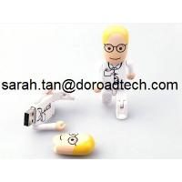 Wholesale High Speed Real Capacity Plastic Robot USB Memory Sticks, Customized Figures Available from china suppliers