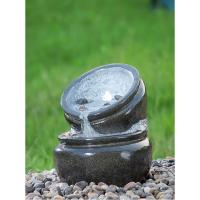 Quality Traditional Black Marble Cast Stone Fountains Outdoor In Magnesia Material for sale
