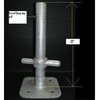 Wholesale Galvanized Scaffold System Adjustable Base Jack , Scaffolding Adjustable Jack Base from china suppliers