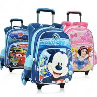 Wholesale New Disney Mickey and Minnie 5D Kid's School Bag Trolley Bag For Primary School from china suppliers