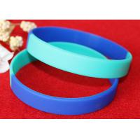 Wholesale Light Weight Custom Silicone Rubber Wristbands Multi Colors Segmented from china suppliers