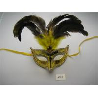 Wholesale Feathers Eye Mask For Halloween Venetian Masquerade Mardi Gras Party from china suppliers